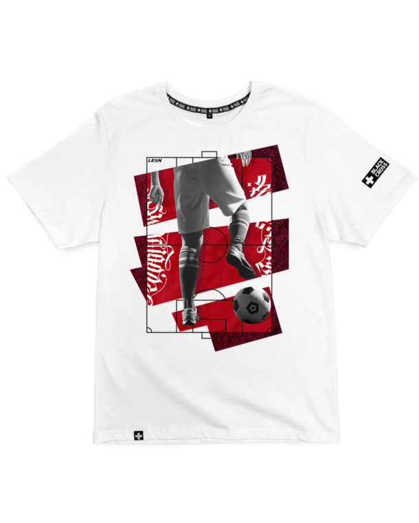 print Football player red